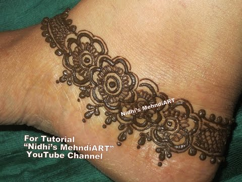 Mehndi Henna Designs S : Pretty anklet pattern inspired mehndi henna designs for feet