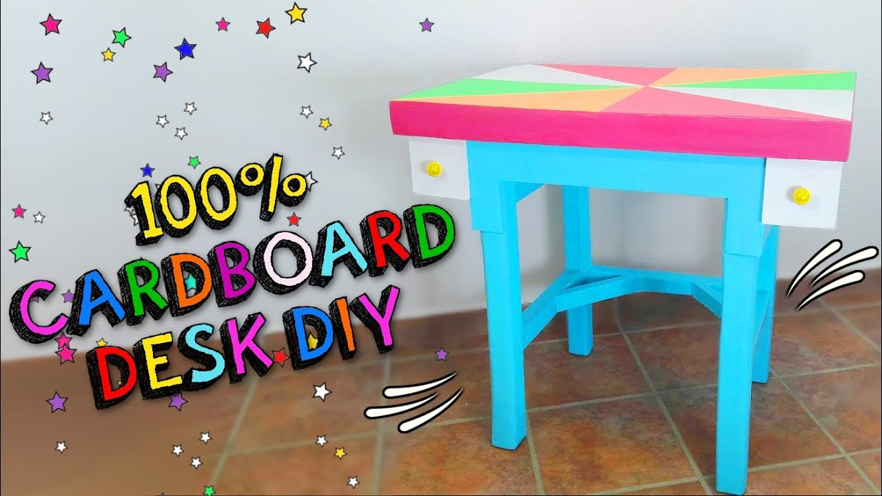 How To Convert A Cardboard Box Into Furniture Make Table Desk For Children Diy Mr