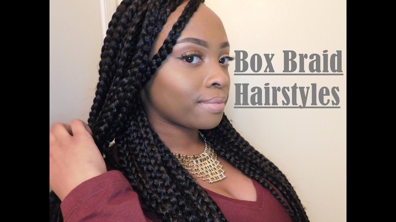 Hairstyles Braids Youtube: 8 Hairstyles For Box Braids