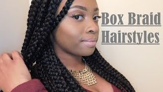 8 hairstyles for box braids