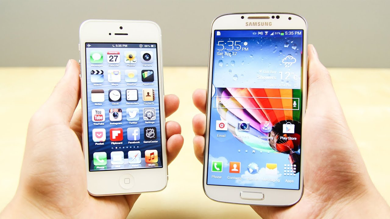 samsung vs iphone samsung galaxy s4 vs apple iphone 5 1823