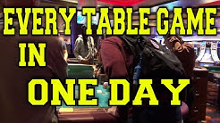Every Table Game. Every Casino. ONE DAY (Gambling Vlog #63) Atlantic City