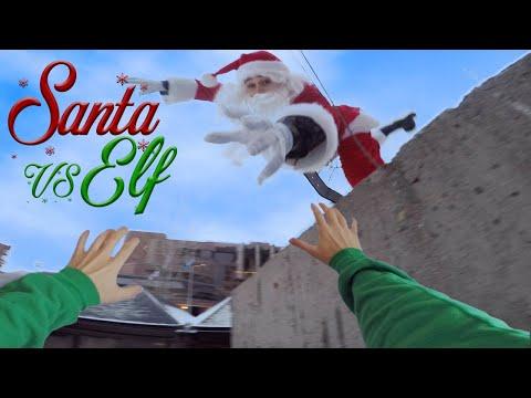 Santa Vs Elf - Parkour POV