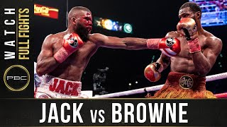 Jack vs Browne FULL FIGHT: January 19, 2020 - PBC on Showtime PPV