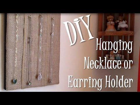 Diy Hanging Necklace Or Earring Holder On Frame Youtube