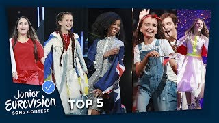 TOP 5 of the 2018 Junior Eurovision Song Contest
