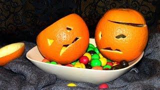 Апельсины-монстрики на Хэллоуин / Интересные рецепты на Хэллоуин