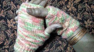 Stylish Hand Gloves Knitting in easy steps