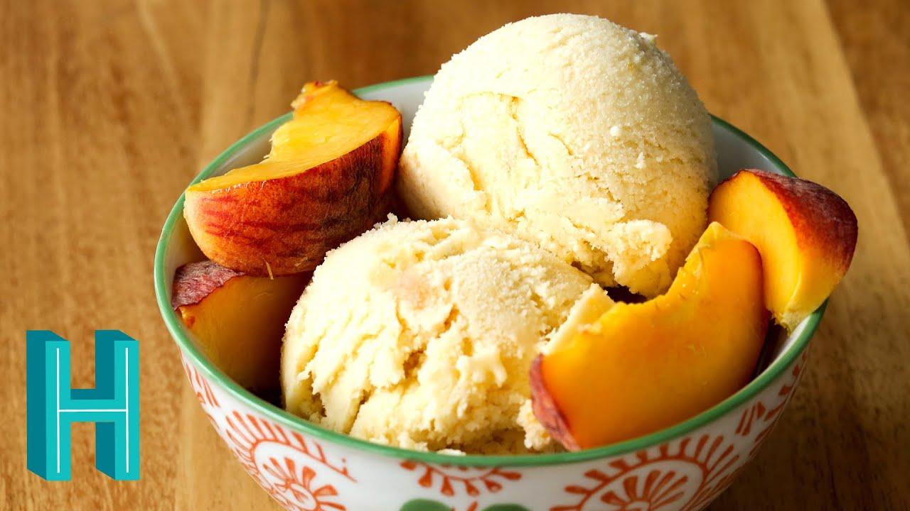 How To Make Peach Ice Cream Homemade Peach Ice Cream