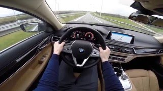 BMW 7 Series 2016 740i 326hp POV test drive GoPro