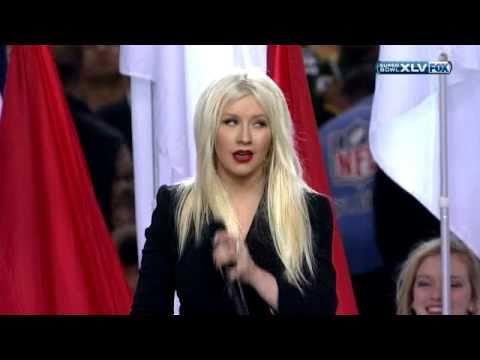 National Anthem Christina Aguilera - SuperBowl XLV 2011