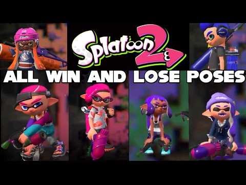 Splatoon 2 All Wining And Losing Animations From The Demo