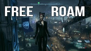 Batman Arkham Knight - Catwoman Free Roam Gameplay