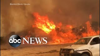 Race to put out hotspots as Australia fire zone rages