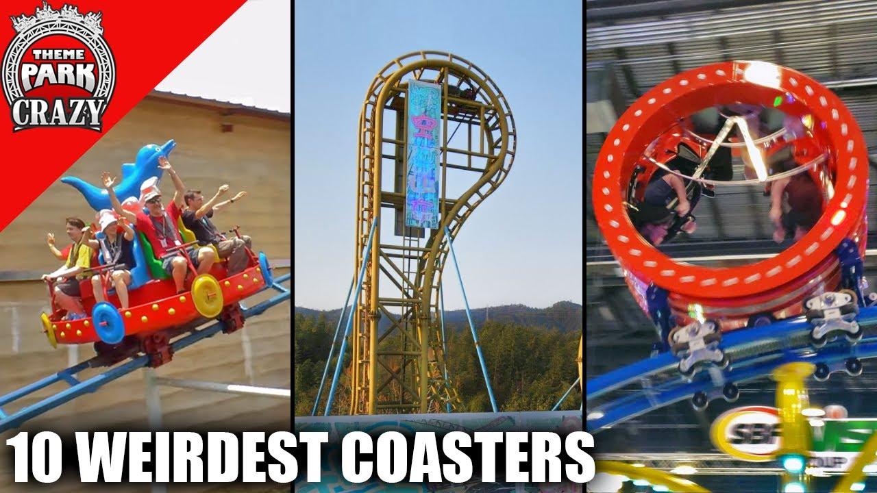 Top 10 WEIRDEST Roller Coasters Around the World