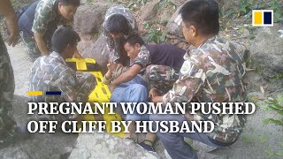 Download Pregnant woman pushed off cliff in Thailand by husband