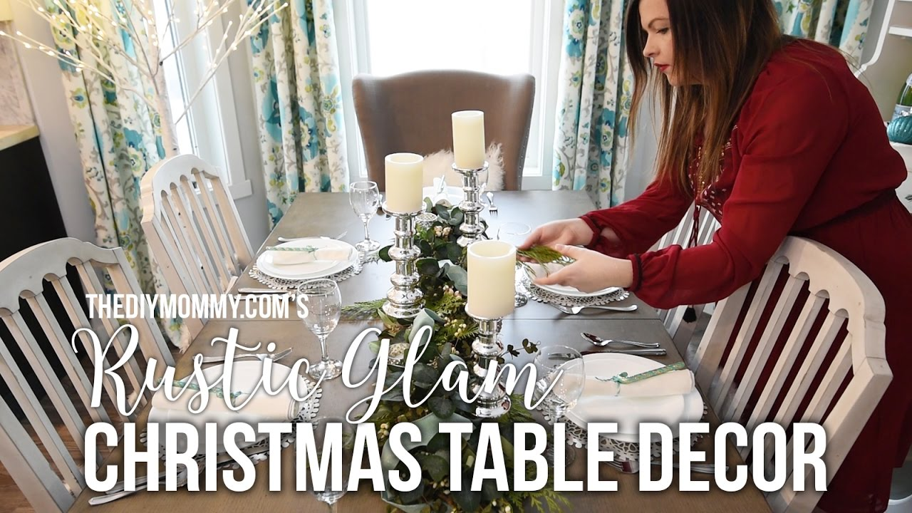 Rustic Glam Christmas Table Decoration & Centerpiece Ideas