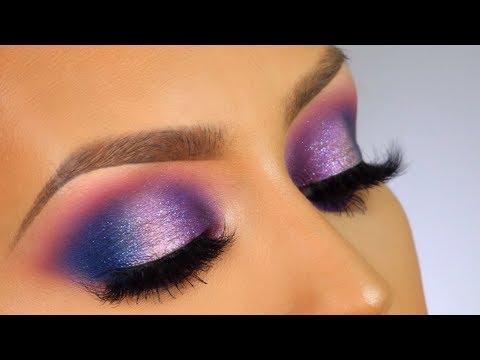 Drugstore galaxy inspired makeup tutorial thumbnail