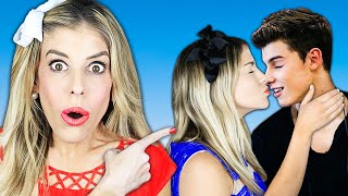 Surprise Giant Dating Game For First Kiss With Celebrity Crush! | Rebecca Zamolo