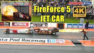 FireForce 5 JET Car at Santa Pod FIA MAIN EVENT 2017 [*UltraHD and 4K*]
