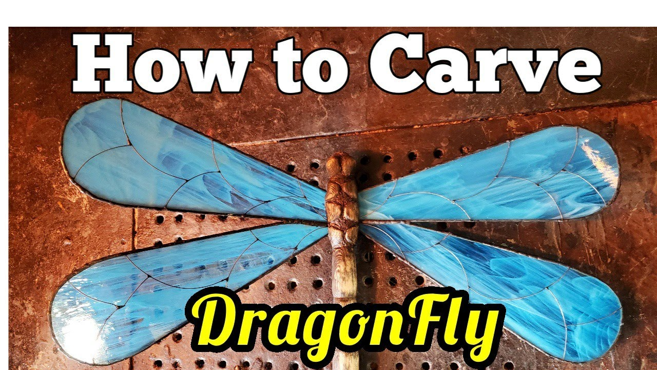 Step by step carving a dragonfly. For the challenge.