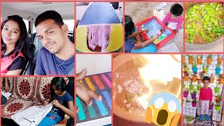#Vlog / Surprise Gift To Teddy / Scary Mud Pot Cooking / Barbati Veg Recipe / AshaSudarsan