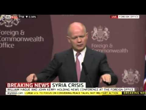 Syria Told 'Hand Over Your Chemical Weapons' William Hague and John Kerry  09/09/2013