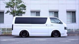トヨタ ハイエースへSKIPPERのハイドロを装着!! Toyota Hiace SKIPPER Hydraulic Suspension installed!