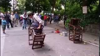 Funny Japanese Street Performance at Ueno Park