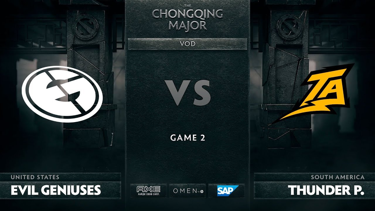 [RU] Evil Geniuses vs Thunder Predator, Game 2, The Chongqing Major LB Round 2