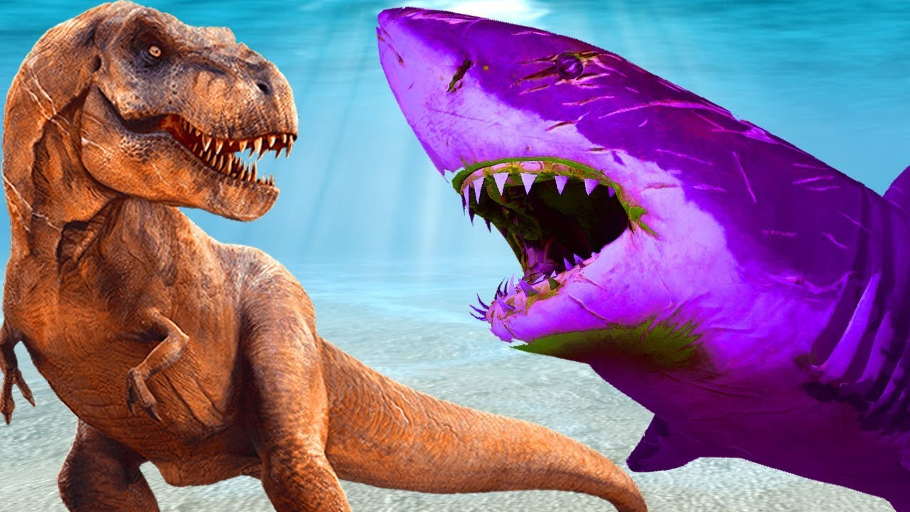 Tiburón Vs Dinosaurios Lucha Real