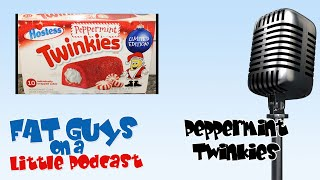 Fat Guys Taste Test Holiday Edition Peppermint Twinkies in studio