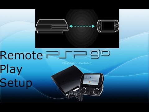 PSP to PS3 Remote Play - Set up