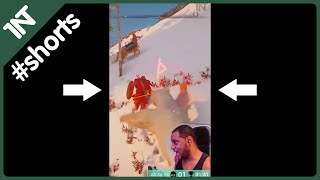 WRECKED in POLAR BEAR MOUNT in Assassin's Creed VALHALLA! #shorts