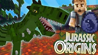 "Jurassic World Origins #3 ""T-REX EGG!"" (Dinosaur Mod Minecraft Role..."