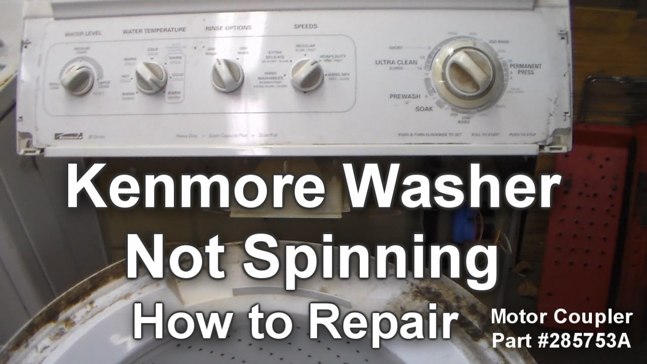 kenmore washer not spinning how to troubleshoot and repair youtube rh youtube com Kenmore 70 Series Replacement Parts kenmore 80 series washer repair manual pdf