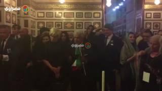 جيهان السادات تحيي الذكري ال ٣٧ لشاه إيران