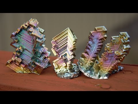 Bismuth Crystals In The Making!