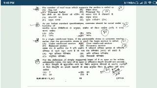 UP SSSC JE CIVIL PREVIOUS YEAR SOLVED QUESTION part-4/4