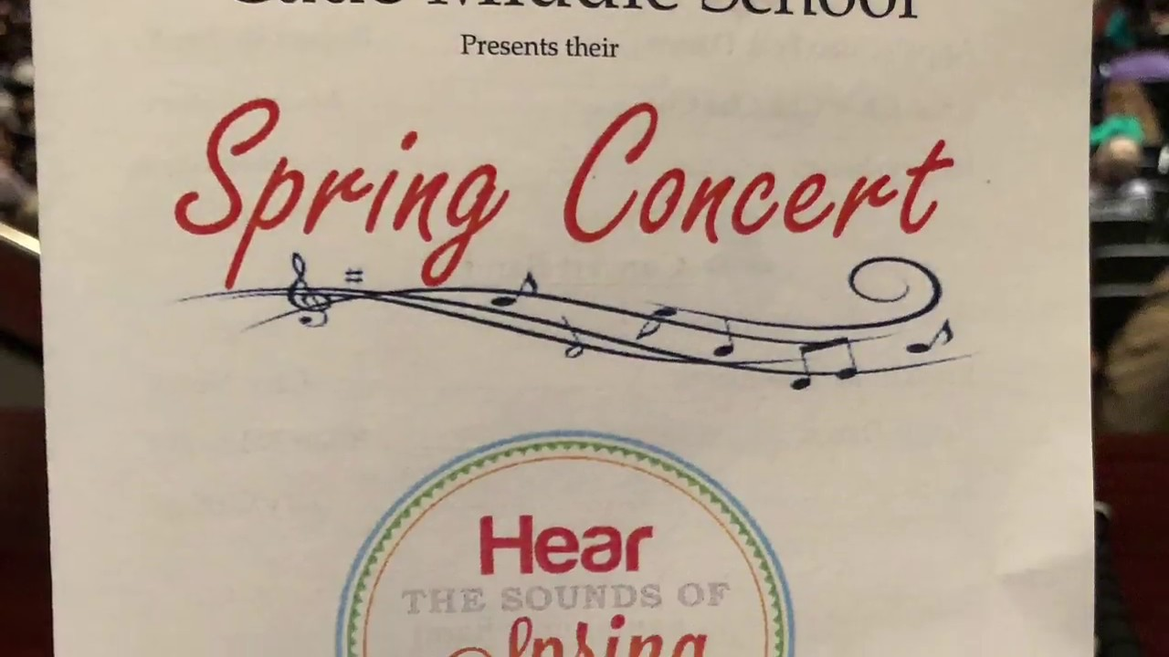 2018 Spring Concert Highlights Cade Middle School Youtube