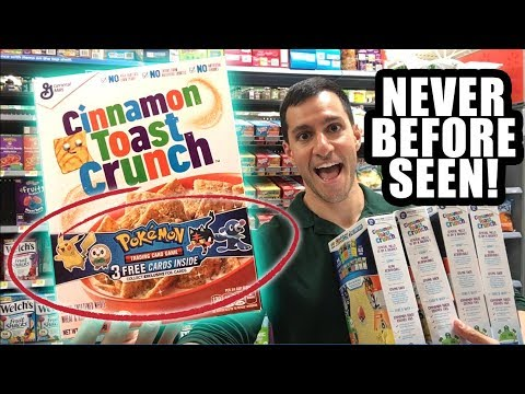 NEW Pokemon Cards IN MY CEREAL! Gotta CATCH EM All Sun and Moon Promo Cards!