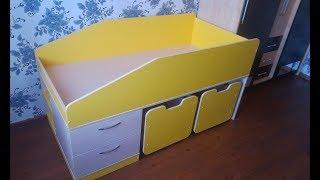 видео Схема сборки двухъярусной кровати: требования и крепление