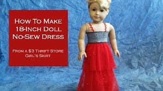Htm Ag Doll No Sew: Dress For 18-inch Dolls