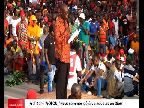 Déclaration de la coalition à l'endroit des forces de sécurité et de défense par le Prof Komi WOLOU