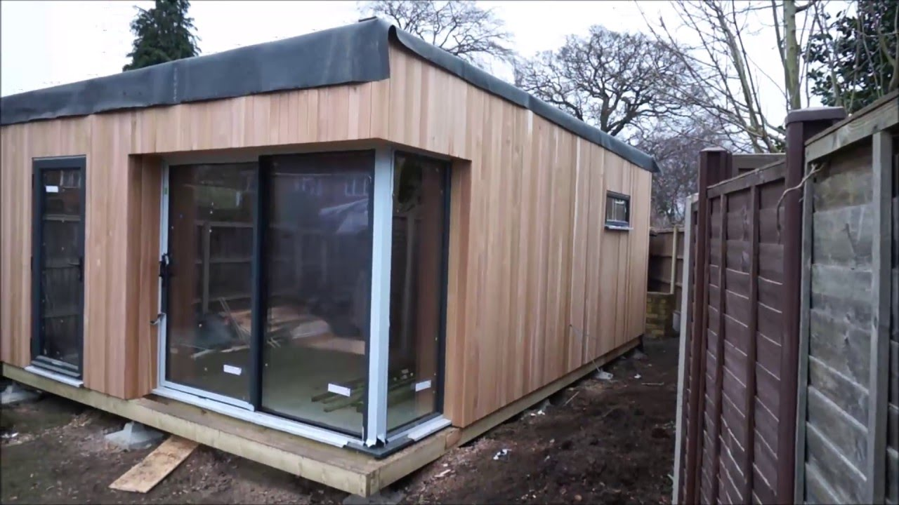 Building of our garden studio granny annexe youtube for Wooden studios for gardens