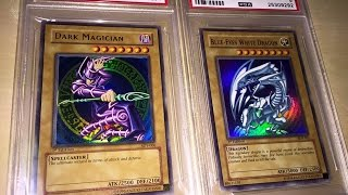 MY FIRST PSA SUBMISSIONS! BLUE-EYES WHITE DRAGON AND DARK MAGICIAN ORIGINAL STARTER DECKS!