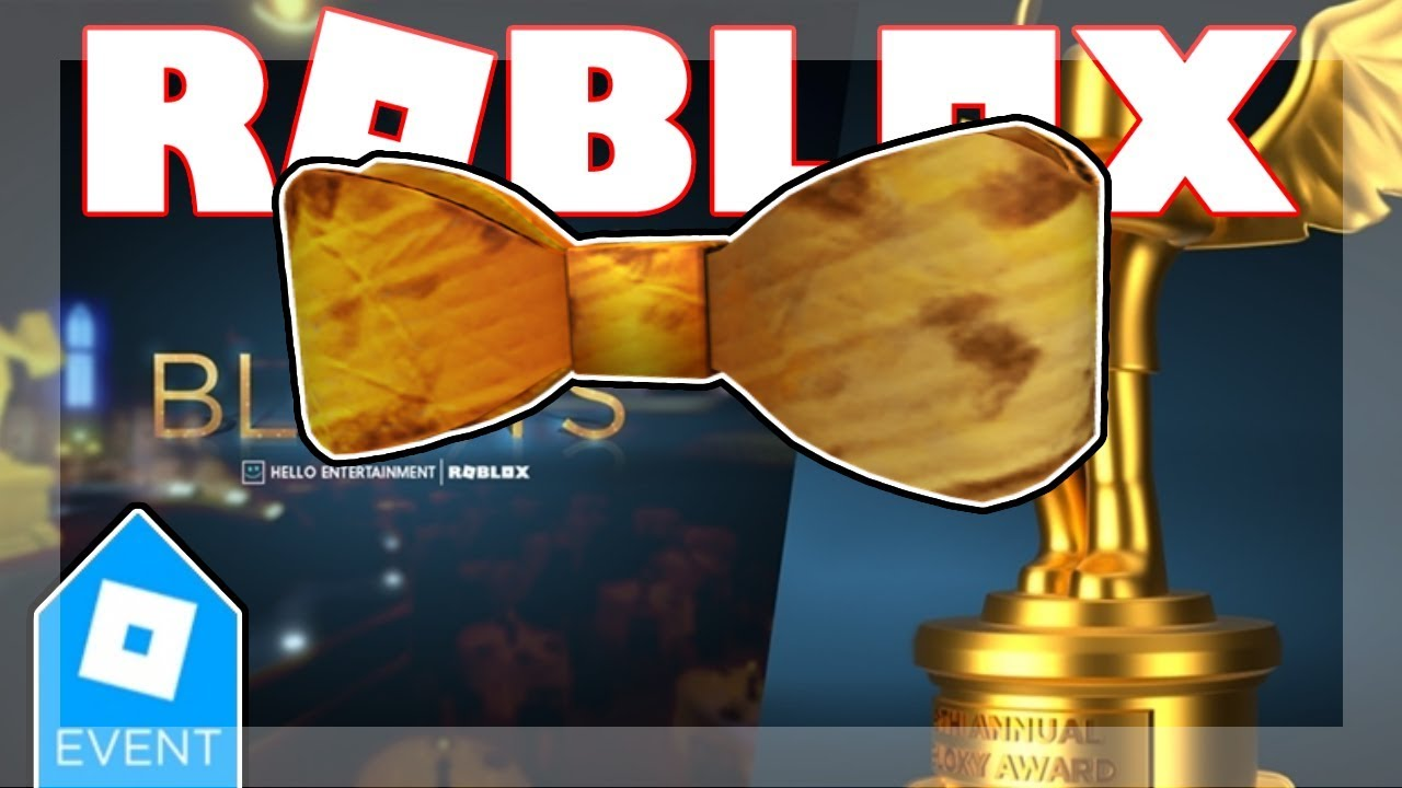 Bloxy Event Ended 2019 How To Get Diy Golden Bloxy Bow Tie Roblox 6th Annual Bloxys - how to get diy golden bloxy wings roblox bloxy event ended