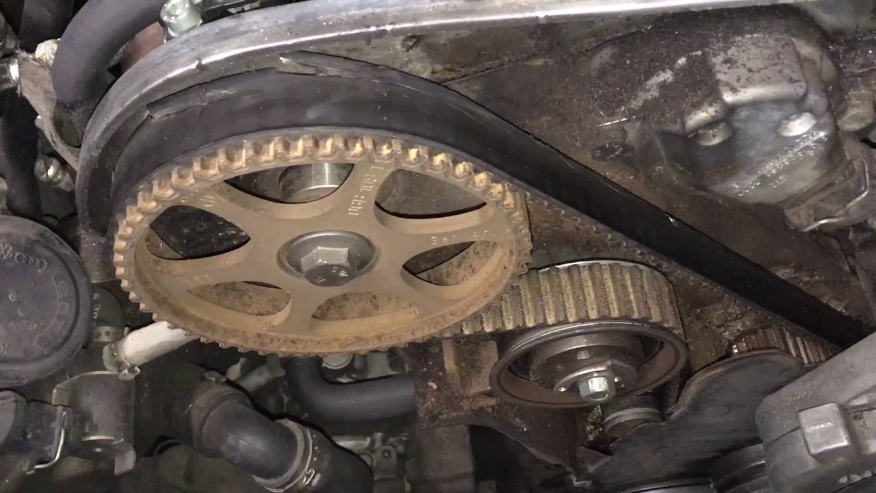 vw passat 1 8t timing belt inspection diy tip youtube 2001 jetta 18t timing marks and completed engine diagram [ 1280 x 720 Pixel ]