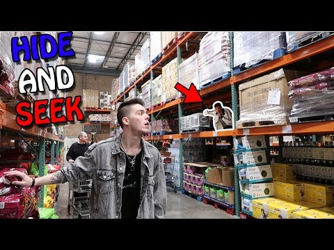 CRAZY GAME OF HIDE AND SEEK IN COSTCO!