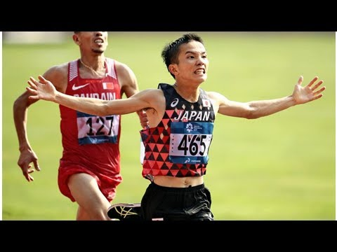 Jakarta Asian Games / Inoue Wins Marathon In Final Sprint / Teen Phenom Ikee Lands 6th Swimming Gold